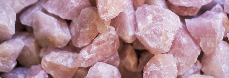 Pierre de quartz rose